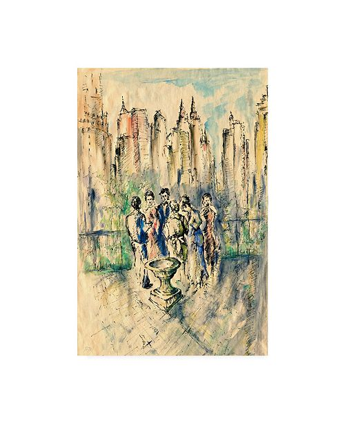 """Trademark Global Peter Potter New York Roof Party Canvas Art - 15.5"""" x 21"""""""