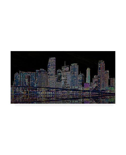 "Trademark Global Ellicia Amando Miami Glowing Canvas Art - 27"" x 33.5"""