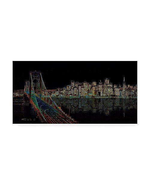 "Trademark Global Ellicia Amando San Francisco Glowing Canvas Art - 15.5"" x 21"""