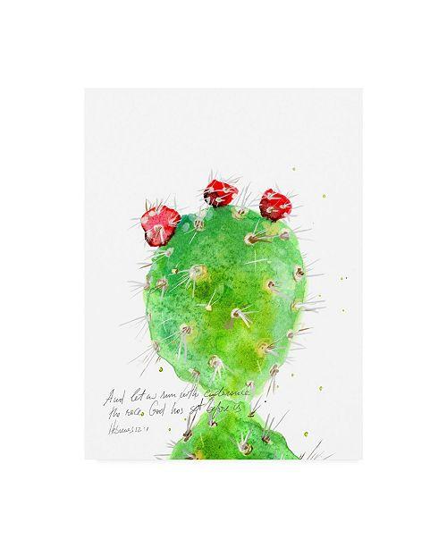 "Trademark Global Ingrid Blixt Cactus Verse IV Canvas Art - 19.5"" x 26"""