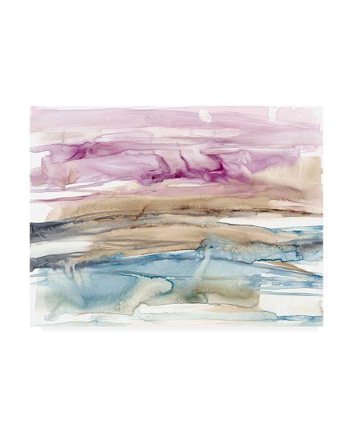 "Trademark Global Jennifer Goldberger Umber and Fuchsia Vista I Canvas Art - 36.5"" x 48"""