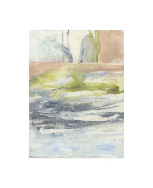 "Trademark Global Jennifer Goldberger Waxen Strata I Canvas Art - 19.5"" x 26"""