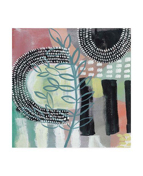 "Trademark Global Chariklia Zarris Ticker Tape II Canvas Art - 36.5"" x 48"""