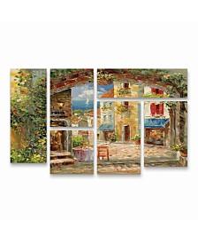 "Rio Capri Isle Multi Panel Art Set 6 Piece - 49"" x 19"""