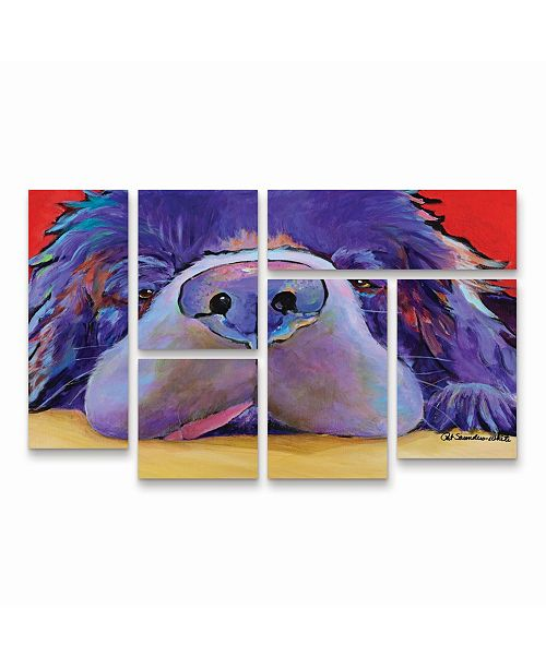 "Trademark Global Pat Saunders-White Graysea Multi Panel Art Set 6 Piece - 49"" x 19"""