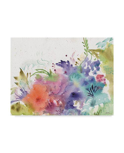 "Trademark Global Sheila Golden Garden Rainbows Canvas Art - 15"" x 20"""