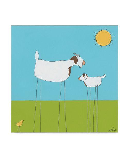 "Trademark Global June Erica Vess Stick Leg Goat I Canvas Art - 15"" x 20"""