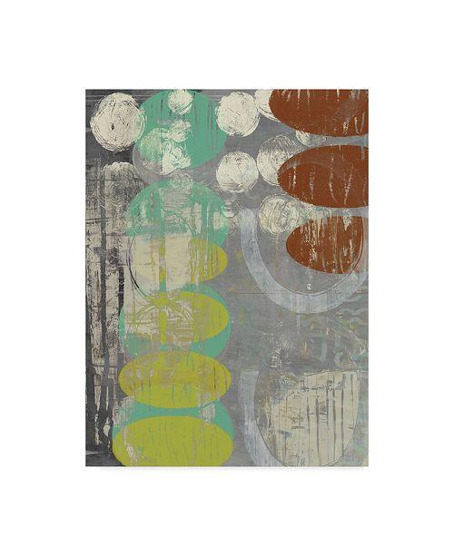 "Trademark Global Jennifer Goldberger Circles Circle I Canvas Art - 15"" x 20"""