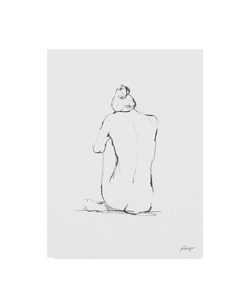 "Trademark Global Ethan Harper Figure Contour IV Canvas Art - 15"" x 20"""