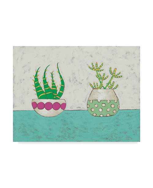 "Trademark Global Chariklia Zarris Succulent Duo I Canvas Art - 15"" x 20"""