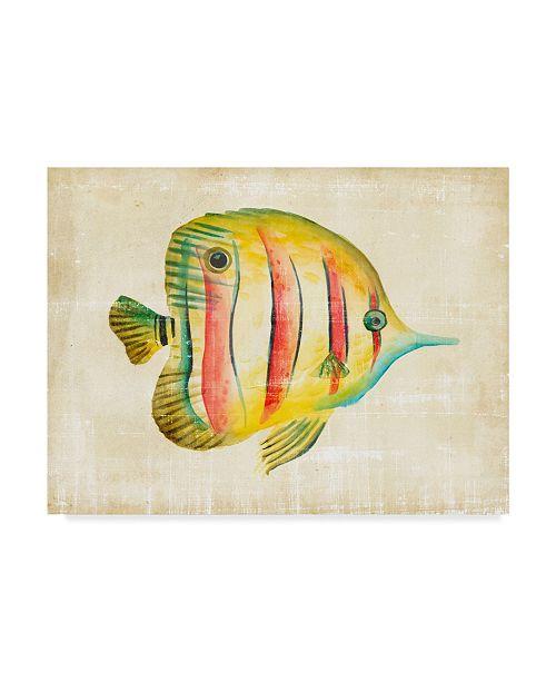 "Trademark Global Chariklia Zarris Aquarium Fish III Canvas Art - 37"" x 49"""
