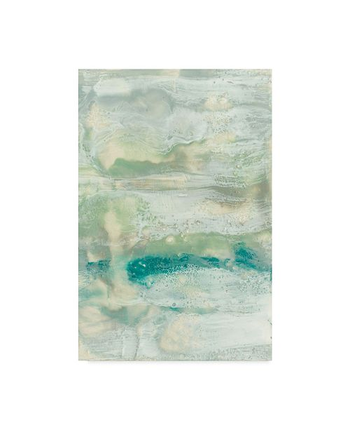 "Trademark Global Jennifer Goldberger Serene Seafoam II Canvas Art - 15"" x 20"""