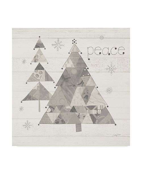 "Trademark Global Courtney Prahl Christmas Patchwork IV Neutral Canvas Art - 15"" x 20"""