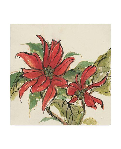"Trademark Global Chris Paschke Poinsettia II Canvas Art - 15"" x 20"""