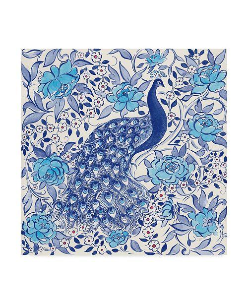 "Trademark Global Miranda Thomas Peacock Garden III Canvas Art - 15"" x 20"""