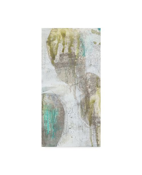 "Trademark Global Jennifer Goldberger Citron and Teal Orbs I Canvas Art - 15"" x 20"""