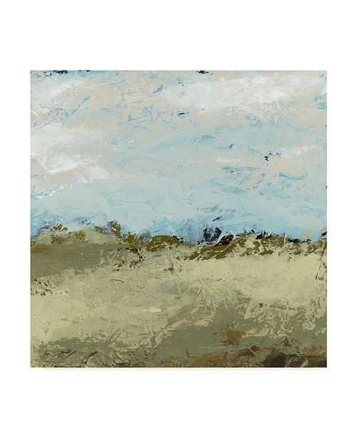 """Trademark Global June Erica Vess Green Fields I Canvas Art - 20"""" x 25"""""""