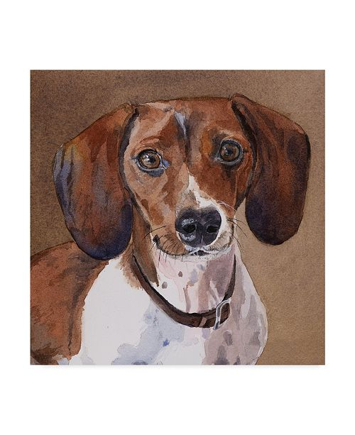 "Trademark Global Edie Fagan Sam Dachshund Canvas Art - 15"" x 20"""