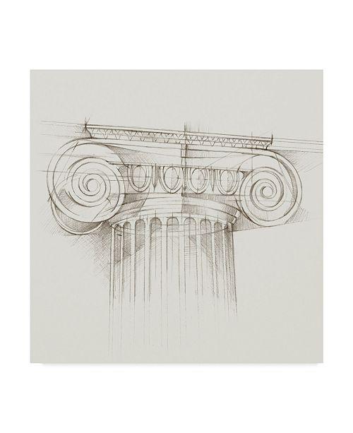 "Trademark Global Ethan Harper Column Schematic III Canvas Art - 15"" x 20"""
