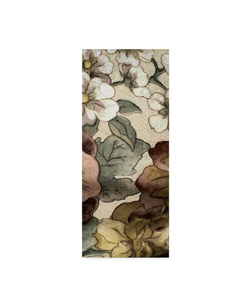 "Trademark Global Catherine Kohnke Earth Tone Floral Panel III Canvas Art - 37"" x 49"""