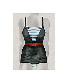 """Grace Popp Vintage Bathing Suit IV Canvas Art - 15"""" x 20"""""""