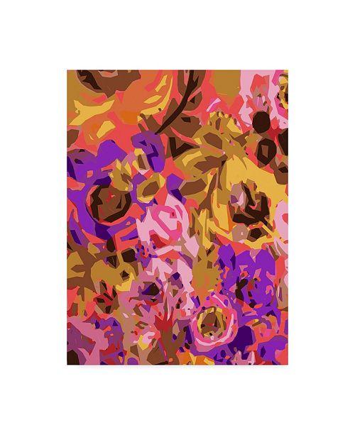 """Trademark Global Karen Fields Warm Abstract Floral I Canvas Art - 15"""" x 20"""""""