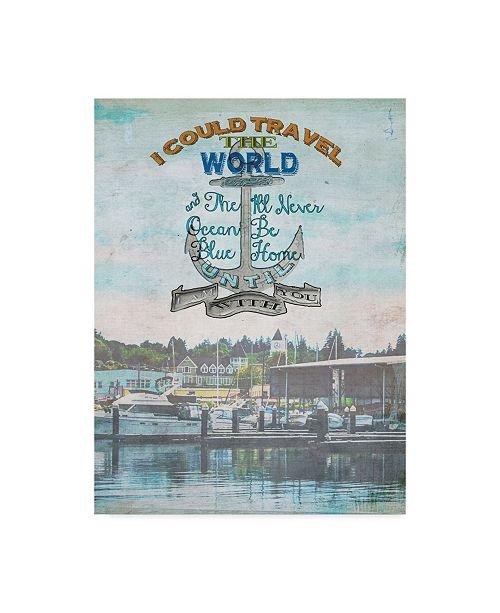 "Trademark Global Sandy Lloyd Anchored Harbor Canvas Art - 20"" x 25"""