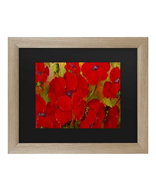 "Trademark Global Masters Fine Art Poppies Matted Framed Art - 27"" x 33"""
