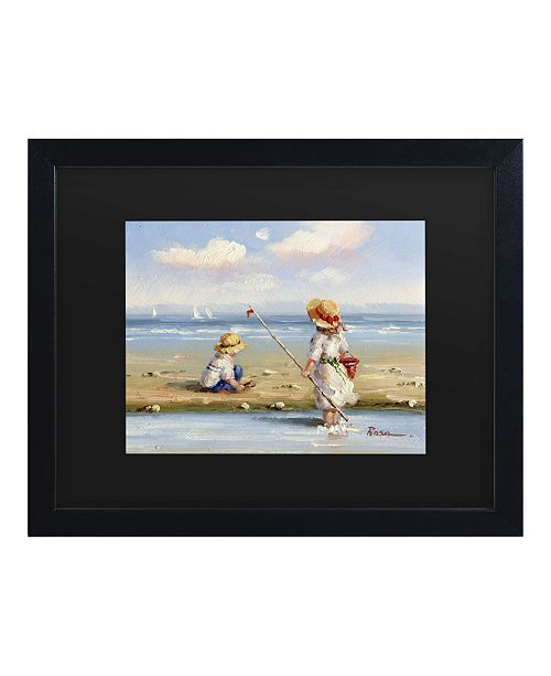 "Trademark Global Masters Fine Art at the Beach III Matted Framed Art - 15"" x 20"""
