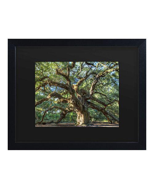 "Trademark Global Pierre Leclerc Angel Oak Charleston Matted Framed Art - 15"" x 20"""