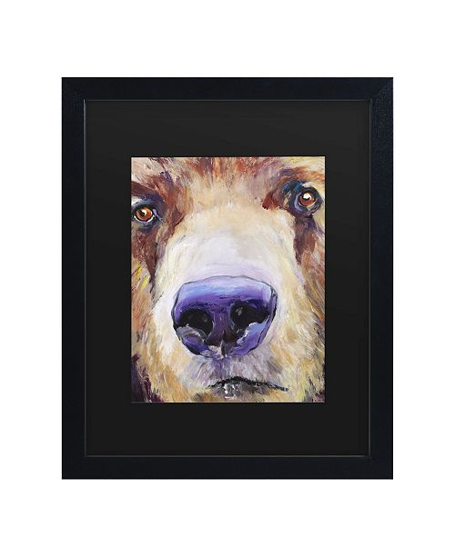 "Trademark Global Pat Saunders-White The Sniffer Matted Framed Art - 15"" x 20"""