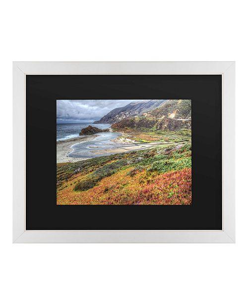 """Trademark Global Pierre Leclerc Bigsur California Matted Framed Art - 20"""" x 25"""""""