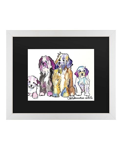"Trademark Global Pat Saunders-White The Gang Matted Framed Art - 20"" x 25"""