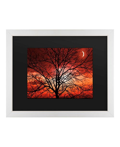 "Trademark Global Philippe Sainte-Laudy Big Bad Moon Matted Framed Art - 20"" x 25"""