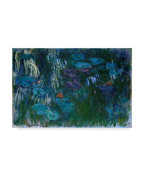 """Trademark Global Claude O. Monet Blue Water Lilies II Canvas Art - 20"""" x 25"""""""