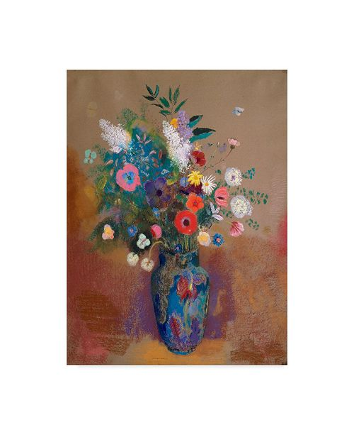 "Trademark Global Odilon Redon Bouquet of Colorful Flowers Canvas Art - 37"" x 49"""