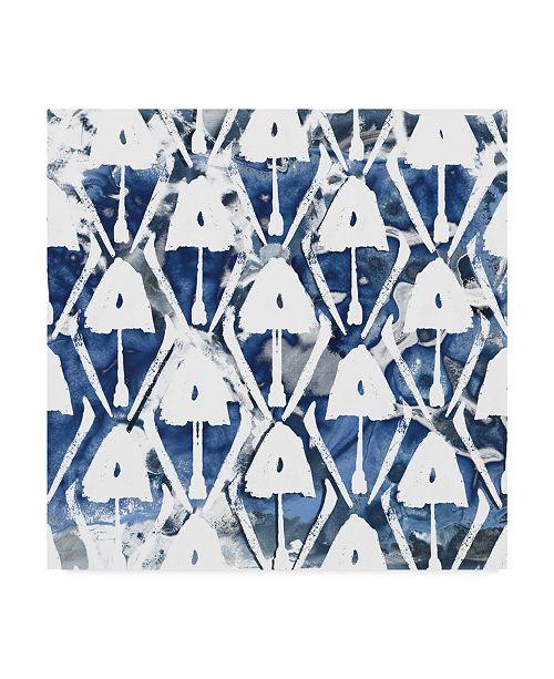 "Trademark Global June Erica Vess Indigo Impression VI Canvas Art - 27"" x 33"""