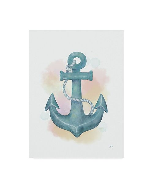 "Trademark Global Jade Reynolds Watercolor Anchor Canvas Art - 20"" x 25"""