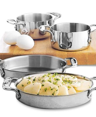 allclad stainless steel set of 2 oval bakers