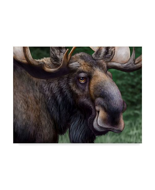 "Trademark Global Patrick Lamontagne Moose Totem Canvas Art - 20"" x 25"""