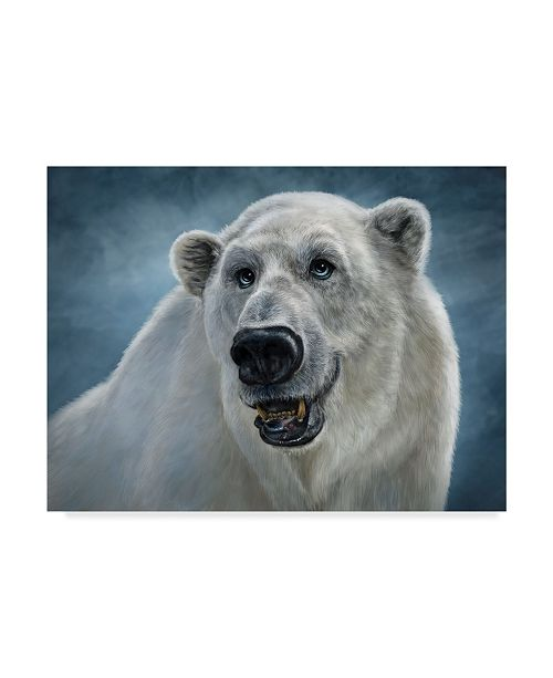 "Trademark Global Patrick Lamontagne Polar Bear Totem Canvas Art - 20"" x 25"""