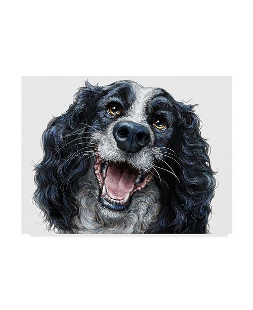 "Trademark Global Patrick Lamontagne Springer Spaniel Illustration Canvas Art - 37"" x 49"""