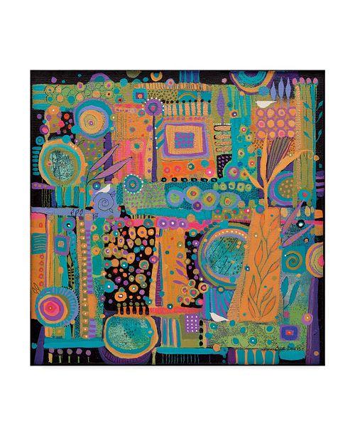 "Trademark Global Sue Davis Happy Dance Abstract Modern Canvas Art - 15"" x 20"""