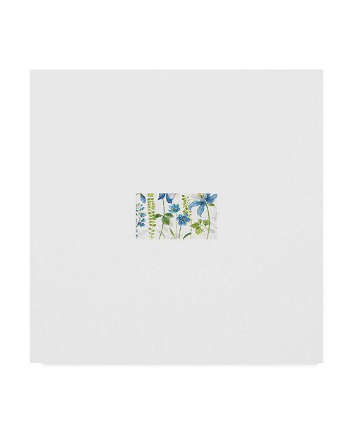 """Trademark Global Lisa Audit Blue and Green Garden II Canvas Art - 27"""" x 33"""""""