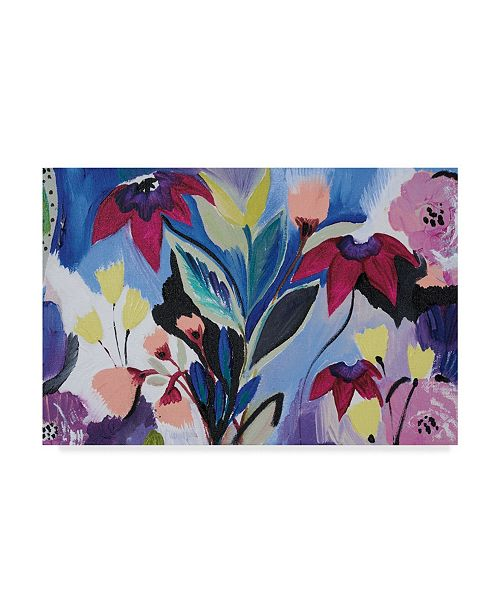 "Trademark Global Joan E. Davis Happy Flower Bar II Canvas Art - 20"" x 25"""