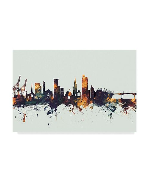 "Trademark Global Michael Tompsett Southampton England Skyline IV Canvas Art - 37"" x 49"""