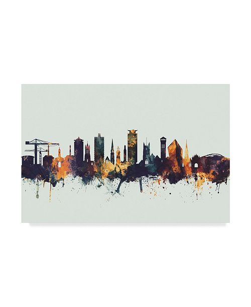"Trademark Global Michael Tompsett Plymouth England Skyline IV Canvas Art - 20"" x 25"""