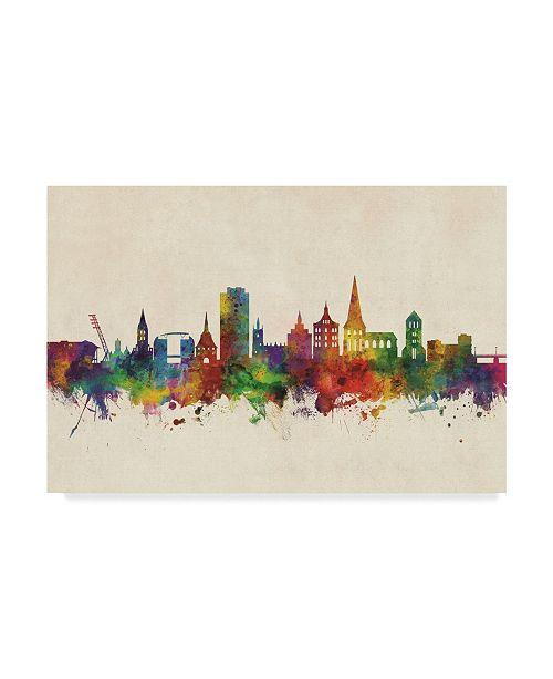 "Trademark Global Michael Tompsett Rostock Germany Skyline Canvas Art - 37"" x 49"""