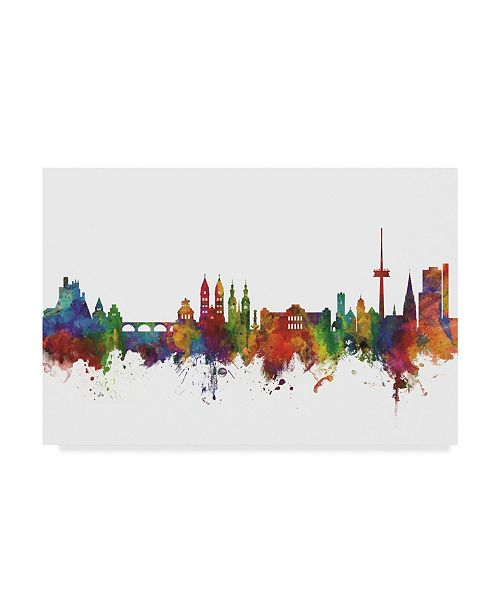 "Trademark Global Michael Tompsett Koblenz Germany Skyline II Canvas Art - 37"" x 49"""