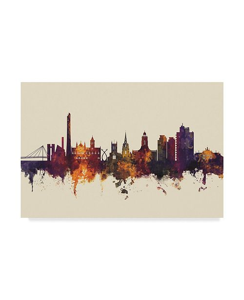 "Trademark Global Michael Tompsett Northampton England Skyline III Canvas Art - 37"" x 49"""